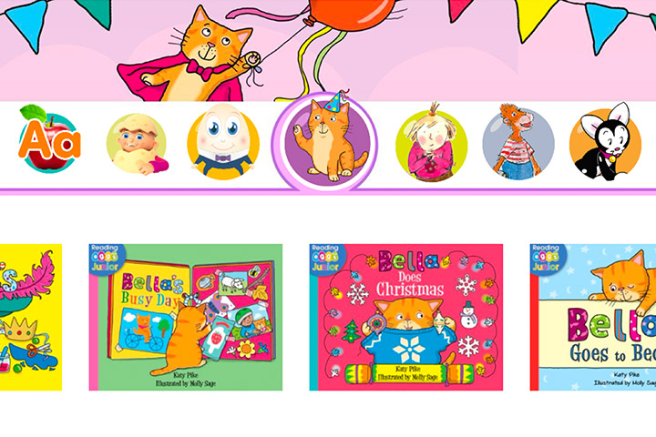 Some examples of the hundreds of ABC Reading Eggs Junior books