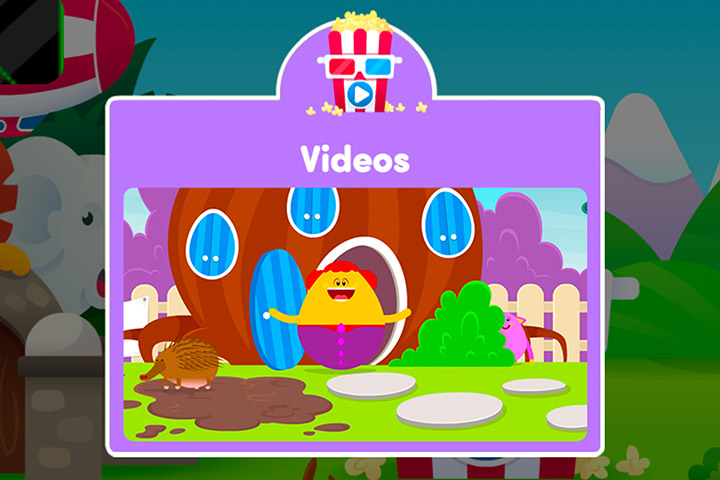 Screenshot of the video section of ABC Reading Eggs Junior